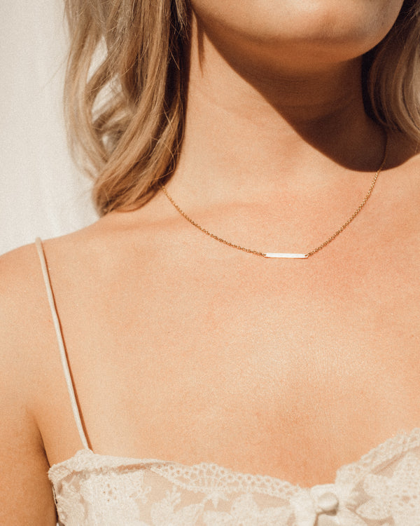 'Simple is Beautiful' Gold-Plated Necklace