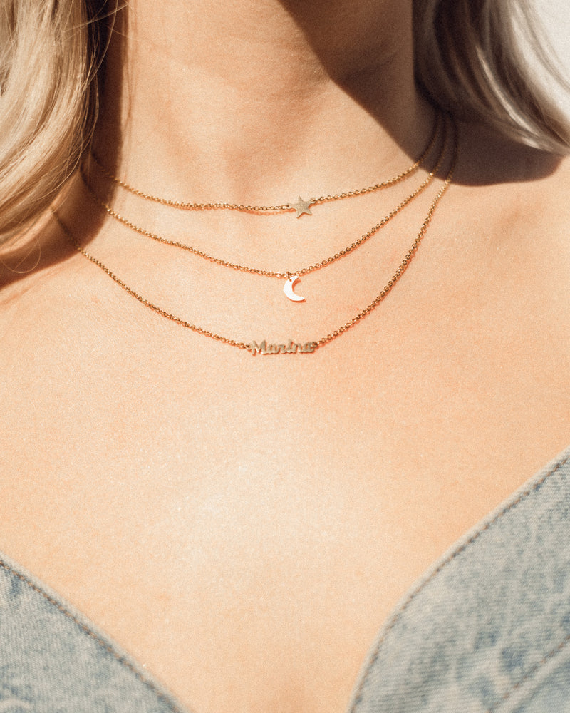 'Moon & Back' Gold Plated Necklace