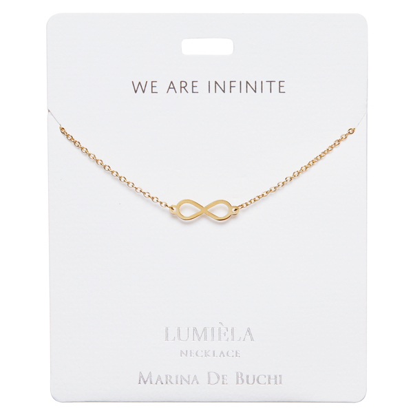 'We Are Infinite' Gold-Plated Infinity Lumiela Necklace