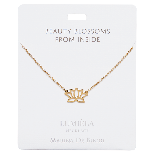 'Beauty Blossoms From Inside' Gold Plated Lumièla Necklace