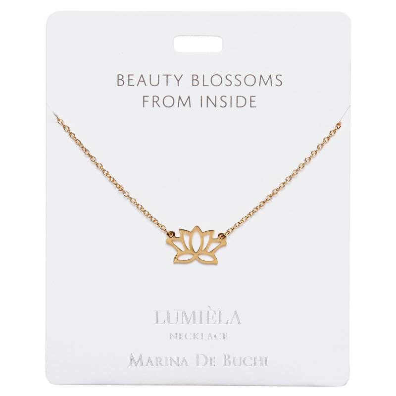 'Beauty Blossoms From Inside' Gold Plated Necklace