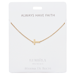 'Always Have Faith' Gold Plated Necklace