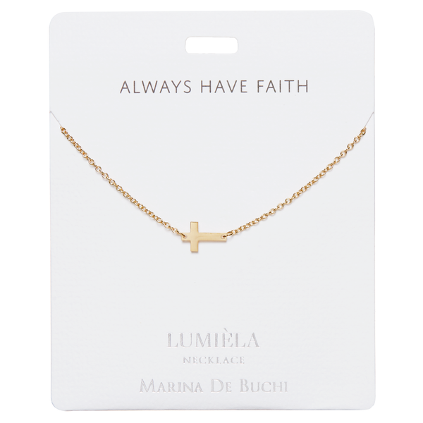 'Always Have Faith' Gold-Plated Lumiela Necklace