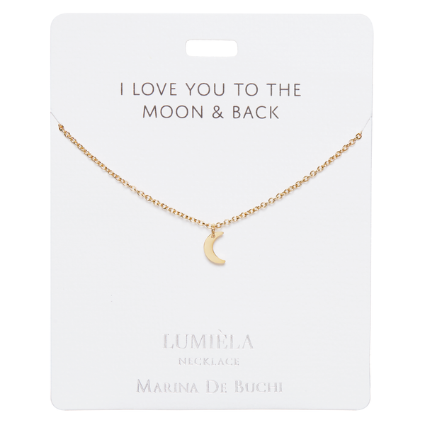 'Moon & Back' Gold Plated Lumièla Necklace