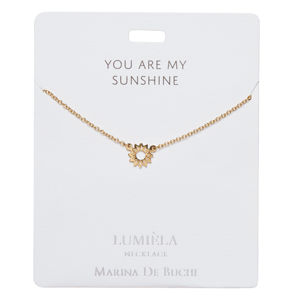 'You Are My Sunshine' Sun Necklace