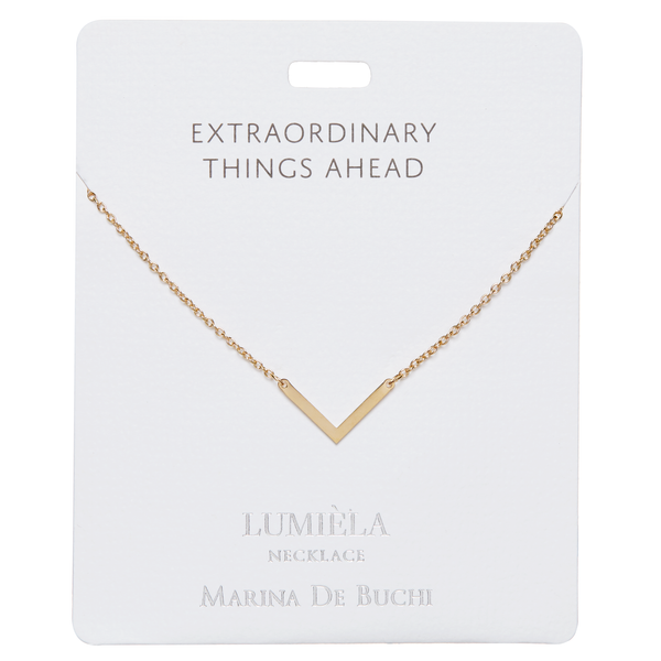 'Extraordinary Things Ahead' Gold Plated Lumièla Necklace