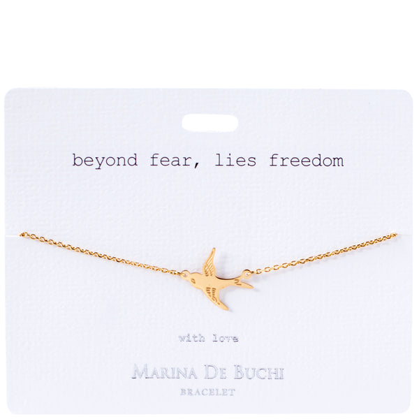 'Beyond Fear, Lies Freedom' Luxe Bracelet