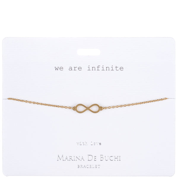 'We are Infinite' Gold-Plated Eternity Bracelet