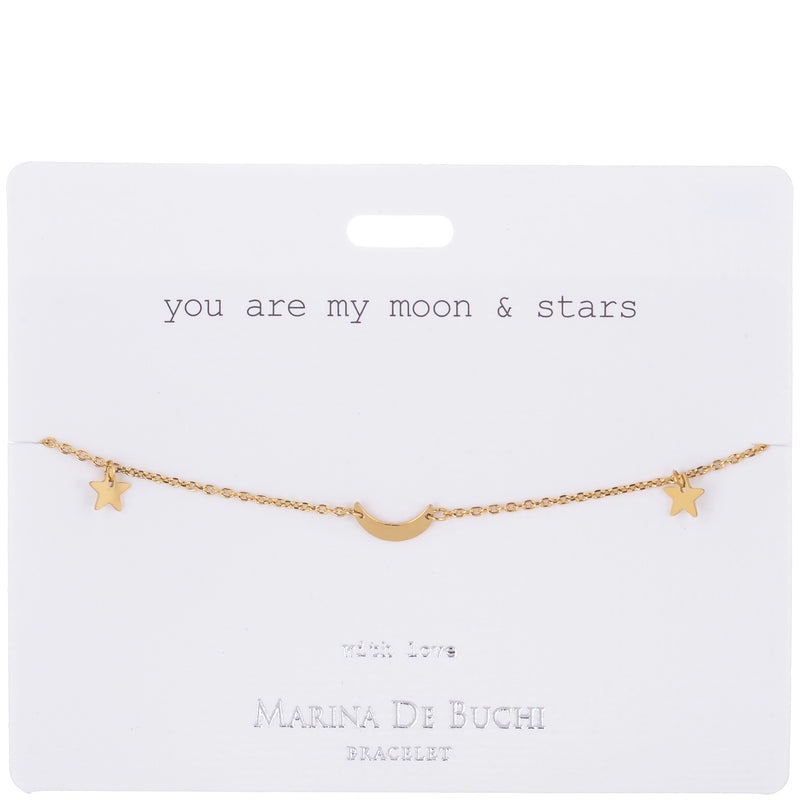 'Moon & Stars' LUXE Gold Plated Bracelet