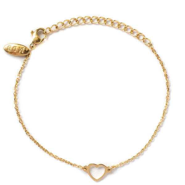 'Follow Your Heart' LUXE Gold Bracelet