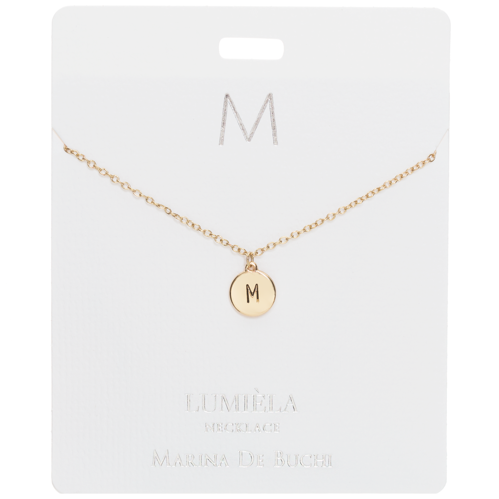 The Initial Lumièla Gold Necklace