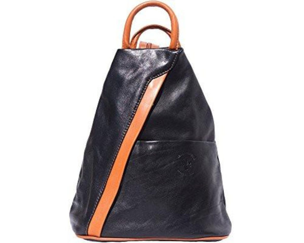 Submedium Italian Leather Backpack Purse Small