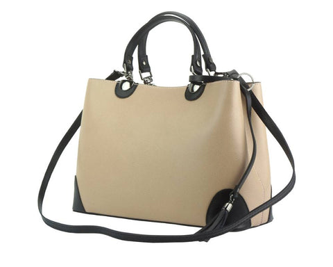 NEW LaGaksta Madeline Women Leather Crossbody Tote Top Handle Shoulder Bag