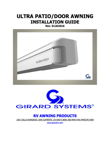 ultra patio  door installation manual girard rv awnings bain ultra wiring diagram ultra wiring diagram