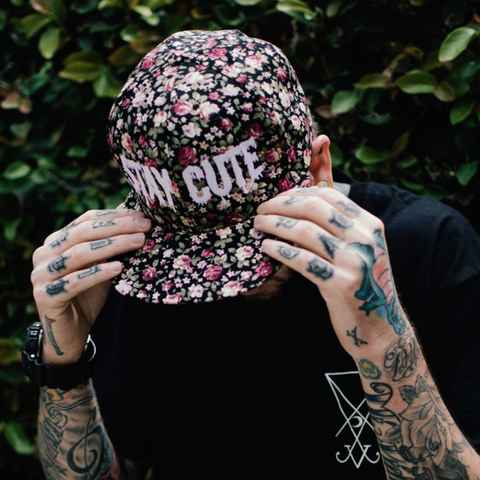 STAY CUTE FLORAL SNAPBACK