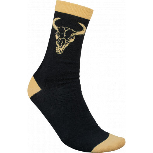 BONES DESERT HORNS BLACK SOCKS