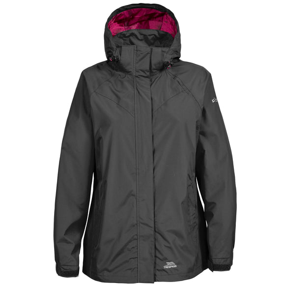 TRESPASS ATOMIX CHARGE LADIES JACKET BLACK
