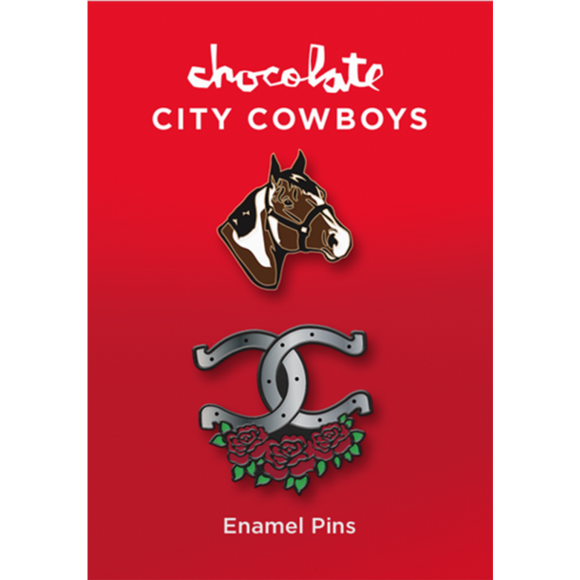 CHOCOLATE COWBOYS 2-PIN SET