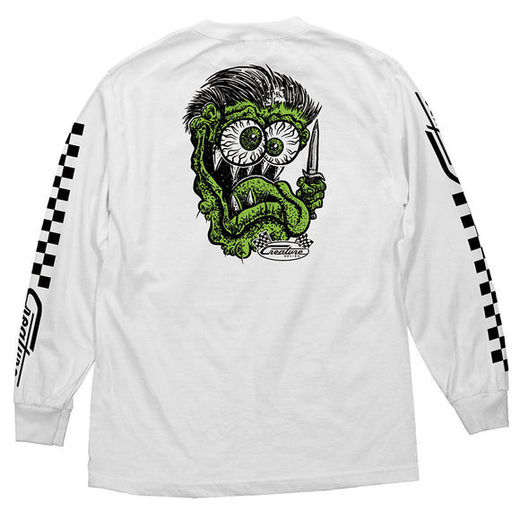 CREATURE GREASE MONKEY L/S WHITE S