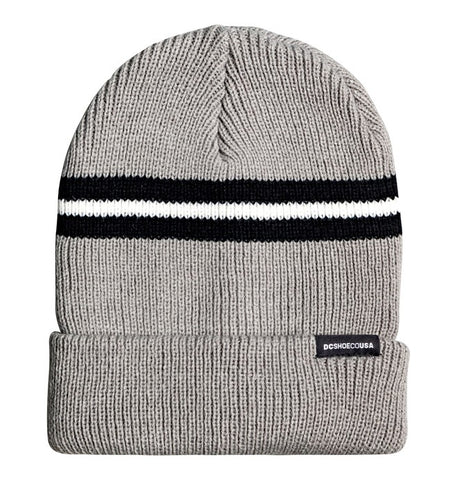DC LABEL SE BEANIE GREY HEATHER