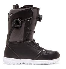 DC LOTUS DOUBLE BOA BOOTS BLACK