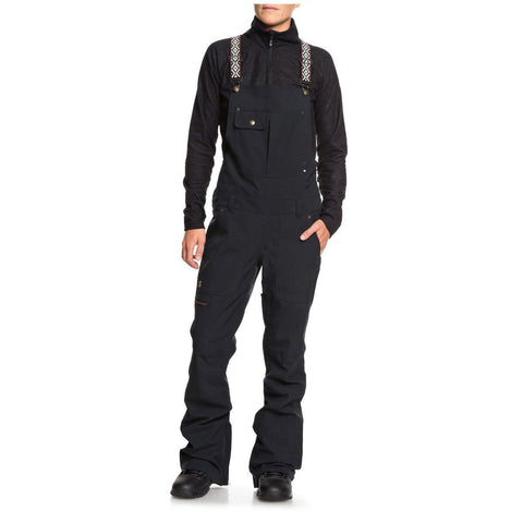 DC WOMEN'S COLLECTIVE BIB SNOW PANTS BLACK