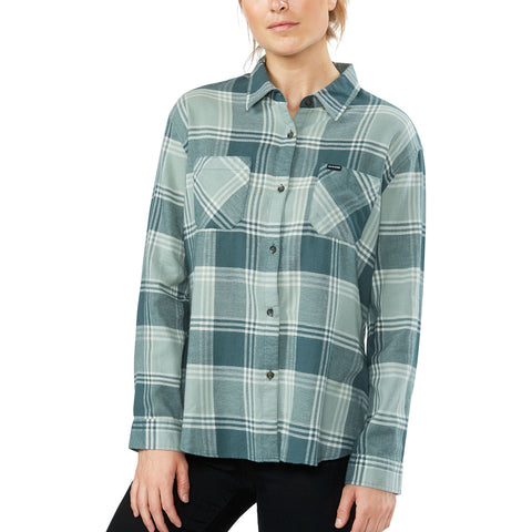 DAKINE ELLIS LIGHTWEIGHT WOMENS FLANNEL BALSAM GREEN