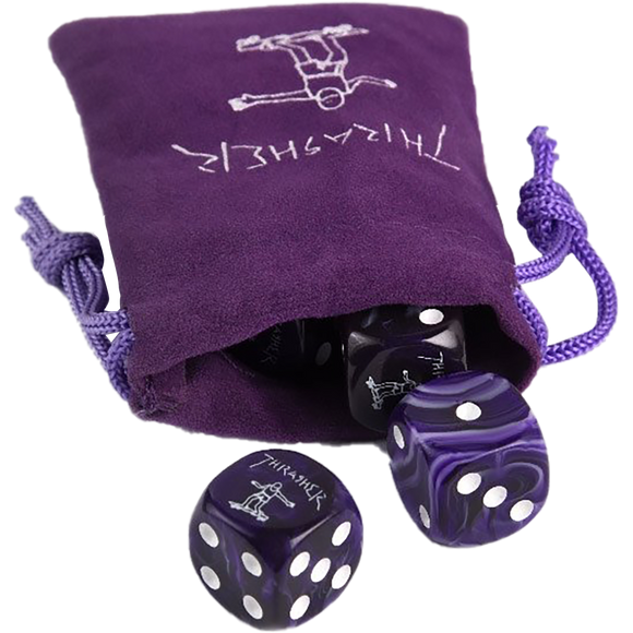 THRASHER GONZ DICE SET PURPLE