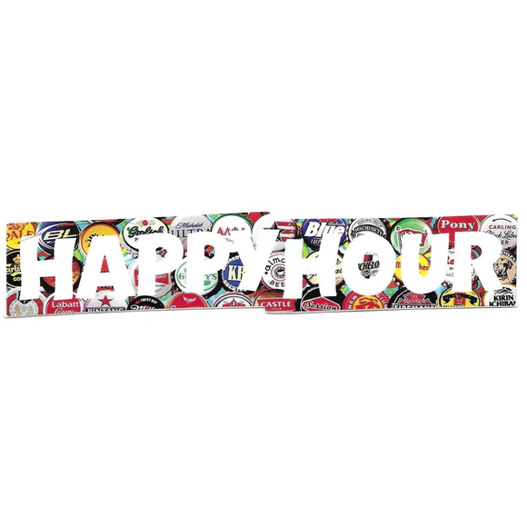 HAPPY HOUR LOGO BOTTLECAPS