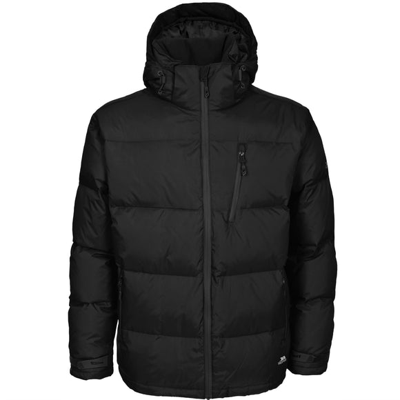 TRESPASS IGLOO MENS DOWN JACKET BLACK