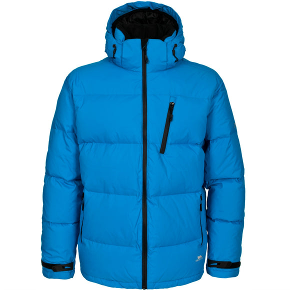 TRESPASS IGLOO MENS DOWN JACKET COBALT