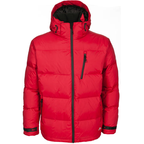 TRESPASS IGLOO MENS DOWN JACKET SIGNAL RED