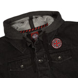 INDEPENDENT DRIFTER HOODED JACKET BLACK/CHARCOAL