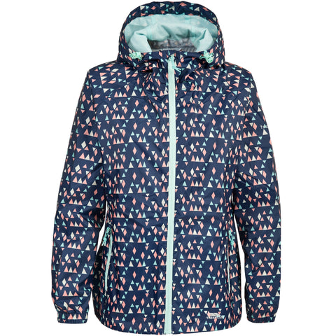 TRESPASS INDULGE LADIES JACKET MIDNIGHT BLUE PRINT