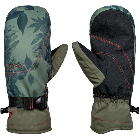 ROXY JETTY SNOW MITTENS DUSTY IVY SYLVAN