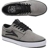 LAKAI GRIFFIN GREY BLACK SUEDE HARD LUCK COLLAB