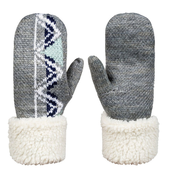 ROXY LIZZIE HYDROSMART MITTENS HEATHER G