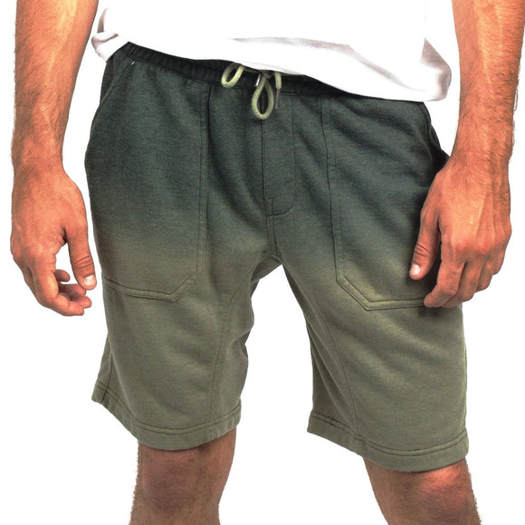 NEFF BUNKER TERRY SHORT FOREST OLIVE