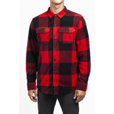 NEFF PEAK BUTTON UP RED L