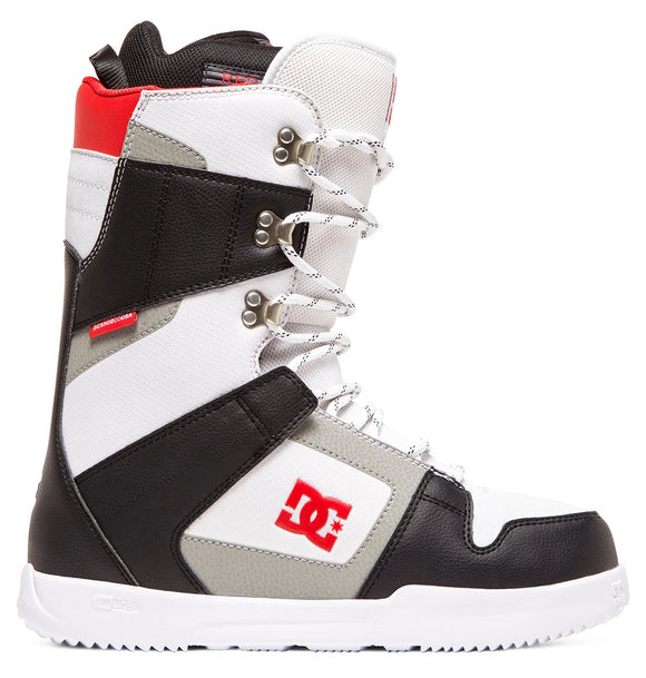 DC PHASE LACE-UP SNOWBOARD BOOTS BLACK/WHITE