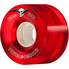POWELL PERALTA 63MM 80A CLEAR RED