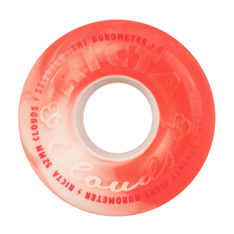 RICTA CLOUDS 52MM 78A RED WHITE SWIRL