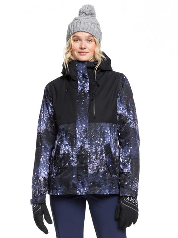 ROXY JETTY 3-IN-1 SNOW JACKET MEDIEVAL BLUE SPARKLES