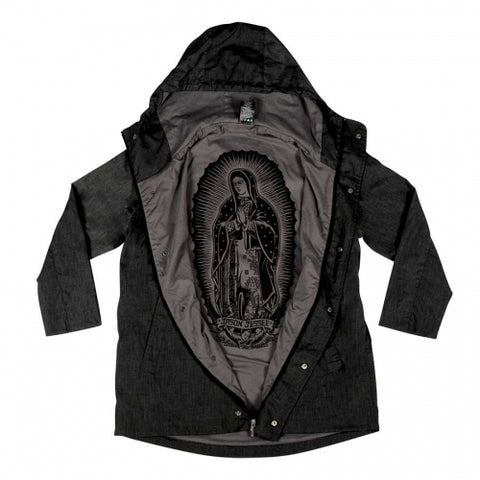 SANTA CRUZ CRISIS HOODED JACKET HEATHER