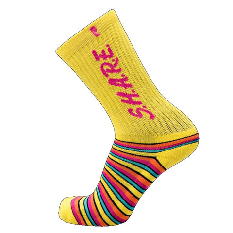 PSOCKADELIC SHARE YELLOW SOCKS