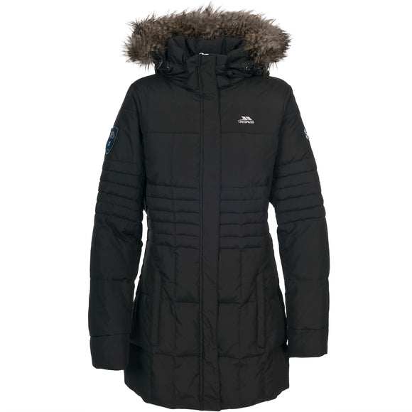 TRESPASS SNOWY LADIES DOWN JACKET BLACK