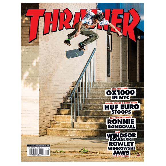 THRASHER MAGAZINE 2016 DECEMBER
