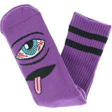 TOY MACHINE BLOODSHOT EYE CREW SOCKS