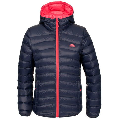 TRESPASS ADORED LADIES DOWN JACKET INK BLUE