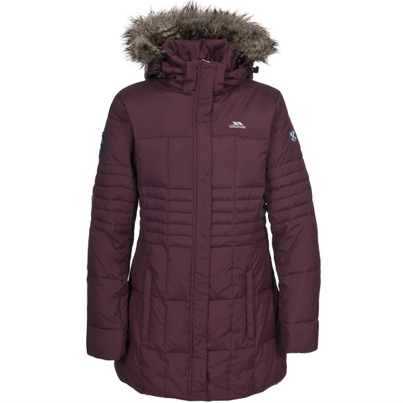 TRESPASS SNOWY LADIES DOWN JACKET SHIRAZ